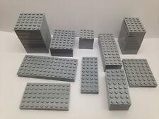 LEGO - 10 PEZZI PER ORDINE SOLO - NUOVO GRIGIO CHIARO piastre di base in diversi