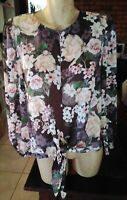 FOREVER NEW LIGHTWEIGHT TIE UP LONG SLEEVE BLOUSE/ TOP SIZE 10,