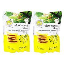 Rispy banana with tamarrind jam snack crispy fruit food thai travel camp sport