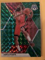 2019-20 Panini Mosaic Basketball JAMES HARDEN Green Prizm #114 Houston Rockets