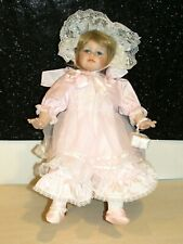 """1992 Seymour Mann  Collection Doll GORGEOUS IN PINK & WHITE LACE 19"""" PORCELAIN"""