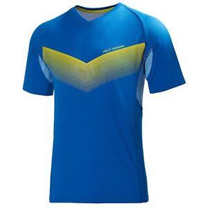 Helly Hansen Challenger SS Short Sleeve T-Shirt Running Top - Blue - L - BNWT