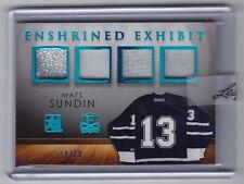 2015-16 ITG Enshrined Mats Sundin Exhibit Blue Spectrum Quad Jersey Patch 10/10