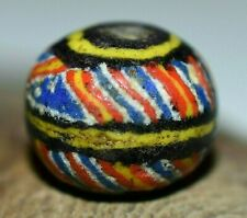 Antique Rare Kiffa Round African Powder Glass Bead Mauritania, African Trade