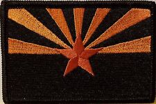 ARIZONA Flag Iron-On Patch Tactical Morale Emblem Black Border Version III