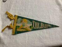 Vintage 1950s Ocean Grove Swansea Massachusetts Souvenir Felt Pennant 12 inches