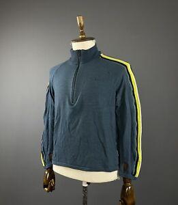 Men Icebreaker Blue Merino Wool 1/4 Zip Jumper Size M
