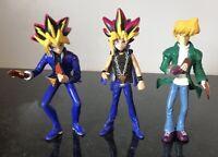 "1996 Kazuki Takahashi Yu-Gi-Oh Action Figures Vintage 5.5"" Lot of 3"