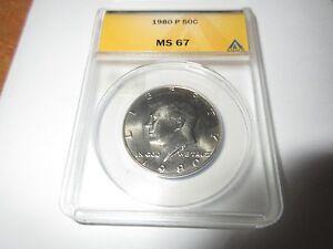1980-P Kennedy Half Dollar , ANACS , MS 67