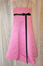 Mini Maids Dress Alfred Angelo Empire Spaghatti Straps Satin Pink Sorbet Size 5