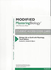 MODIFIED MASTERING BIOLOGY 10TH ED AUDESIRK  ACCESS CODE ONLY UNOPENED