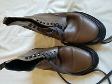 MENS REISS BROWN LACE UP BOOTS SIZE 8