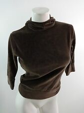 NIKE GOLF WOMENS BROWN PULL OVER VELVET HOODIE SIZE XS