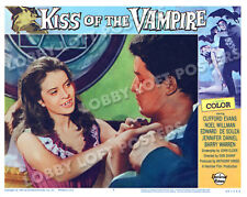 KISS OF THE VAMPIRE LOBBY SCENE CARD #6 1963 POSTER EDWARD DE SOUZA ISOBEL BLACK