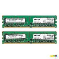 CRUCIAL 4GB(2x2GB) 240-Pin DDR2 SDRAM 2RX8 PC2-8500 Desktop Memory CT25664AA1067