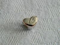 Clogau Silver & Welsh Gold 16th Celebration Heart Bead Charm RRP £109.00