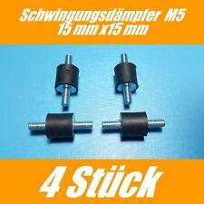 4 Stück Schwingungsdämpfer M5  Ø 15mm  H:15mm  Gummipuffer  Auspuffbefestigung