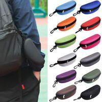 Portable Zipper Eye Sunglasses Glasses Box Case Clam Shell Protector Hard Pouch