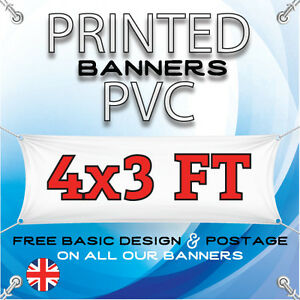 4 X 3 FT PVC BANNERS - OUTDOOR SIGN - ADVERTISING VINYL BANNER - BIRTHDAY PARTY