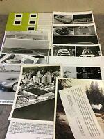 Lot of Vintage Press Photos & Slides For Concept Cars