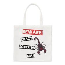 Tenga cuidado con Crazy Scorpion Hombre Small Tote Bag-hombro animales graciosos