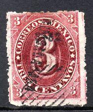 Mexico 1882 Foreign Mail Small Numeral 3¢ Rose Carmine Mazatlan VFU MX26