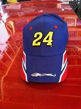 RARE Vintage JEFF Gordon 24 Nascar Racing EMBROIDERED DuPont Hat VELCRO BACK
