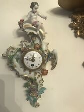 Antique Meissen Germany Porcelain Figural Wall Clock