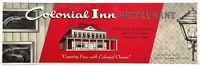1960's Vintage Menu COLONIAL INN Restaurant Country Fare Schiller Park Illinois
