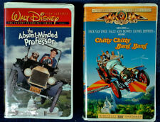WALT DISNEY - CHITTY CHITTY BANG BANG + ABSENT MINDED PROFESSOR - (2) VHS TAPES