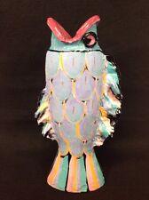 "Jack Charney Studio Art Pottery 1990 16"" Fish Vase NM Artist"