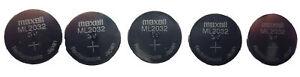 5x Original MAXELL ML2032 ML 2032 3V Rechargeable Lithium RTC Bios CMOS Battery