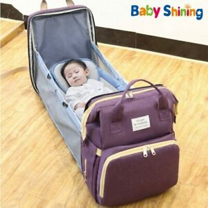 Bag Waterproof Diaper Portable Folding Bed Light Multi-function Mother Baby Bag