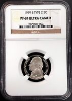 1979 S Type 2 Proof Jefferson Nickel! Graded PF 69 Ultra Cameo by NGC!