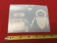 Wall-e Loves Eve window girl heart sticker decal bumper laptop