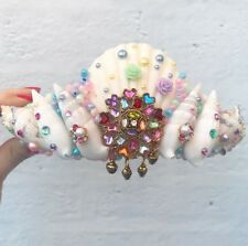 Unicorn PEARL RAINBOW Sea Shell Mermaid Couronne Cheveux Tête Bande Choochie Choo Beach