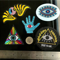 5PCS/Lot Cartoon Eyes DIY Patches Embroidered Iron On Sew On Patch For Clothing