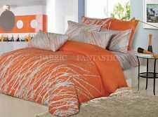 ORANGE TR Double Size Bed Duvet/Doona/Quilt Cover Set New 100%Cotton