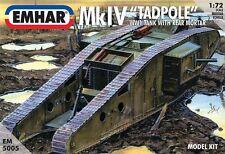 Emhar mkiv tadpole wwi tank avec arrière mortier modèle 5005-kit échelle -1/72