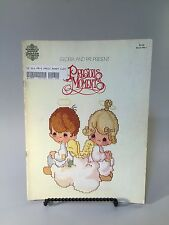 PRECIOUS MOMENTS COUNTED CROSS STITCH PATTERN BOOK, vintage counted cross stitch
