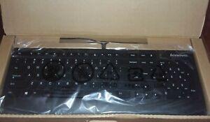 NIB Lenovo Slim Black Keyboard F5 USB Connection for Desktop #SK-8821