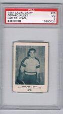 1951 Laval Dairy Lac St. Jean Hockey Card #23 Gerard Audet Graded PSA 3