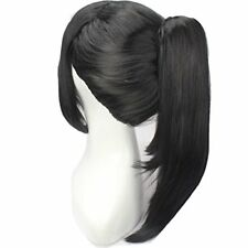 WeKen Black Hair Cosplay Wig with High Ponytail Straight Synthetic Wig with C...