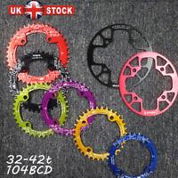 32-42t 104BCD Round Oval Chainring MTB Bike Chainwheel Chain Guard Sprocket CNC