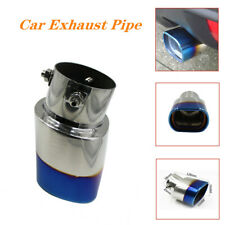 Universal 63mm Stainless Steel Car Exhaust Tail Rear Muffler Tip Pipe Baked Blue