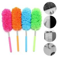 Small Microfibre Duster Cleaning Telescopic Handle Feather Extendable Brush Z9K3