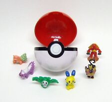 POKEMON POKEBALL + 6 POKEMON MINI FIGURES!!! GREAT EASTER BASKET STUFFER!