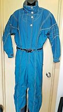 Obermeyer Vtg First Tracks Women's Petite 14 Teal Blue Snowsuit 1-Pc Thermolite