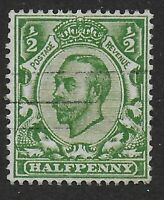 "SG340a. 1/2d.Yellow-Green. Variety-""No Cross On Crown.""  Lightly Used. Ref:0.144"