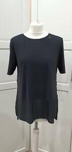 Sweaty Betty Black Mesh Longline Back Breeze Running T Shirt Size M